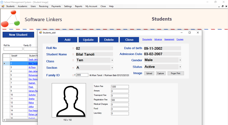 Student Management System Software